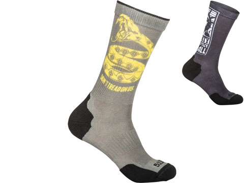 5.11 Tactical Sock & Awe Crew Sock (Color: Sage Green / Don't Tread / Medium)