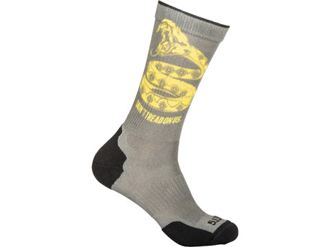5.11 Tactical Sock & Awe Crew Sock (Color: Sage Green / Don't Tread / Large)