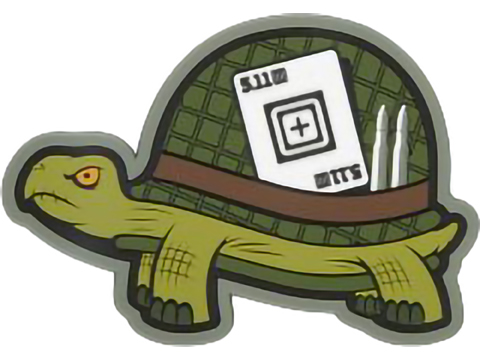 5.11 Tactical SGT. Tortoise PVC Morale Patch (Color: Green)