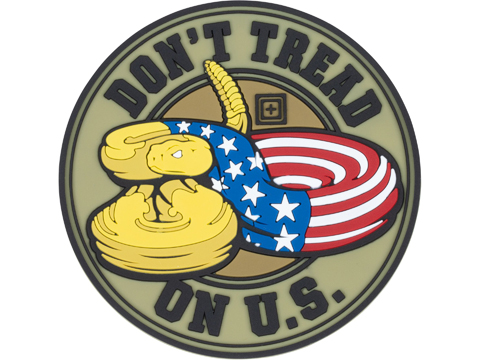 5.11 Tactical Don't Tread on U.S. PVC Morale Patch (Color: Multicolor)