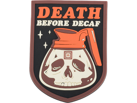 5.11 Tactical Death Before Decaf PVC Morale Patch