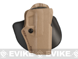 SAFARILAND Open Top Concealment Paddle and Belt Clip Holster with Detent - Glock 20 / 21 (Coyote)