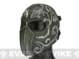 Evike.com R-Custom Fiberglass Wire Mesh Koi Full Face Mask - OD Green