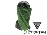 Black Owl Gear / Phantom Tactical High Speed Operator Mask (Color: Green Shemagh)