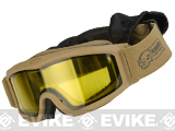 Voodoo Tactical Full Seal Tactical Goggle Kit with 3 Lenses (Color: Coyote)