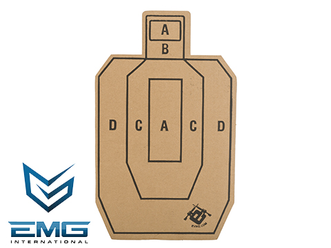 Professional Evike.com Silhouette Tactical Training Targets with Scoring Rings - Set of 20 (Model: Evike 12x18)