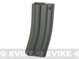 6mmProShop 140rd Midcap Magazine for M4 M16 Series Airsoft AEG Rifles (Color: Grey / Single Magazine)