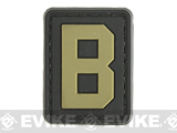 Evike.com PVC Hook and Loop Letters & Numbers Patch Black/Tan (Letter: B)