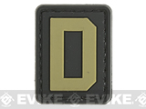Evike.com PVC Hook and Loop Letters & Numbers Patch Black/Tan (Letter: D)