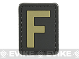 Evike.com PVC Hook and Loop Letters & Numbers Patch Black/Tan (Letter: F)