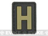 Evike.com PVC Hook and Loop Letters & Numbers Patch Black/Tan (Letter: H)