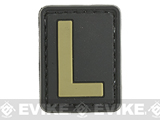Evike.com PVC Hook and Loop Letters & Numbers Patch Black/Tan (Letter: L)