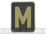 Evike.com PVC Hook and Loop Letters & Numbers Patch Black/Tan (Letter: M)