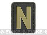 Evike.com PVC Hook and Loop Letters & Numbers Patch Black/Tan (Letter: N)
