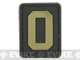 Evike.com PVC Hook and Loop Letters & Numbers Patch Black/Tan (Letter: O)
