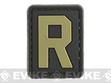 Evike.com PVC Hook and Loop Letters & Numbers Patch Black/Tan (Letter: R)