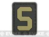 Evike.com PVC Hook and Loop Letters & Numbers Patch Black/Tan (Letter: S)