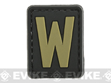 Evike.com PVC Hook and Loop Letters & Numbers Patch Black/Tan (Letter: W)
