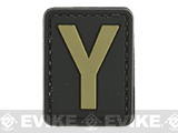 Evike.com PVC Hook and Loop Letters & Numbers Patch Black/Tan (Letter: Y)