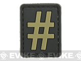 Evike.com PVC Hook and Loop Letters & Numbers Patch Black/Tan (Symbol: #)