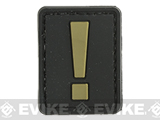 Evike.com PVC Hook and Loop Letters & Numbers Patch Black/Tan (Symbol: !)