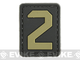 Evike.com PVC Hook and Loop Letters & Numbers Patch Black/Tan (Number: 2)