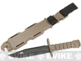 Matrix Airsoft Tactical Rubber Bayonet with Sheath & M4 / M16 QD Mount - Tan
