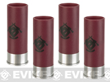 APS Co2 Shotgun Shells for CAM870 Shell Ejecting Airsoft Shotguns w/ Evike.com Logo - Set of 4