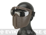 Pro-Goggle Airsoft Full Face Mask w/ Integrated Fan  - Dark Earth
