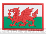 PVC Hook and Loop International Flag Patch (Flag: Wales)