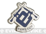 Evike.com Black Tie Stainless Steel Enamel Pin (Model: Evike Logo / Blue)
