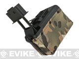 A&K 1500 Round Box Magazine for Airsoft M249 Series AEG (Color: Desert Camo)