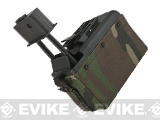 A&K 1500 Round Box Magazine for Airsoft M249 Series AEG (Color: Woodland Camo)