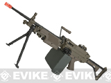 A&K Full Metal M249 MK-I SAW Airsoft AEG with Electric Drum Magazine - Tan