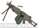 (July 4th EPIC SALE!) A&K Full Metal M249 Para SAW Airsoft AEG with Electric Drum Magazine - Tan