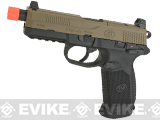 Cybergun FN Herstal Licensed FNX-45 Tactical Airsoft Gas Blowback Pistol by VFC (Color: Tan Slide & Black Frame)