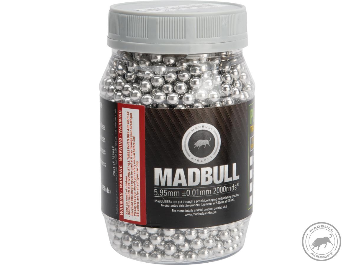 MadBull Special Op Grade 6mm Target Practice Airsoft BB (Model: .30g Aluminum / 2000rd Bottle)