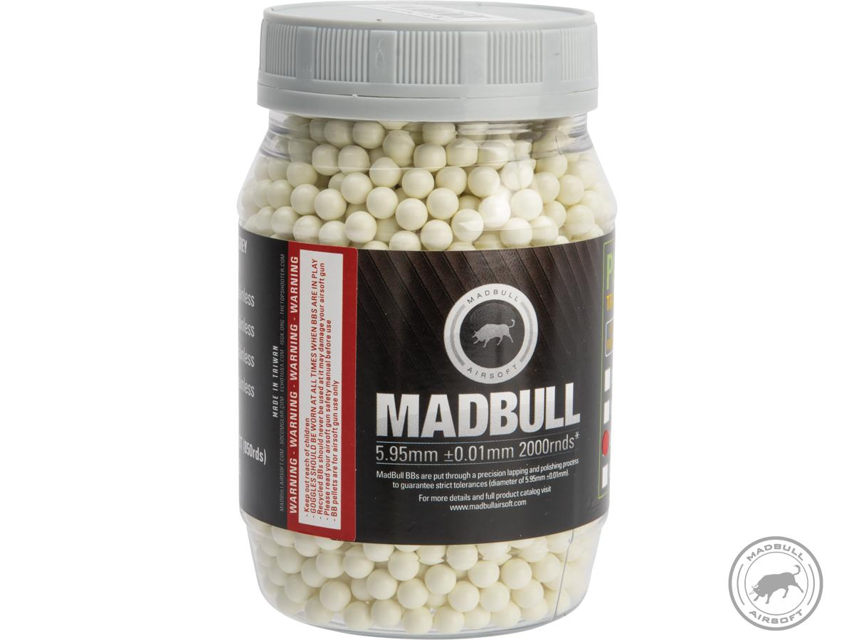 MadBull Precision 6mm PLA Biodegradable Airsoft Tracer BB (Model: .25g Green / 2000rd Bottle)