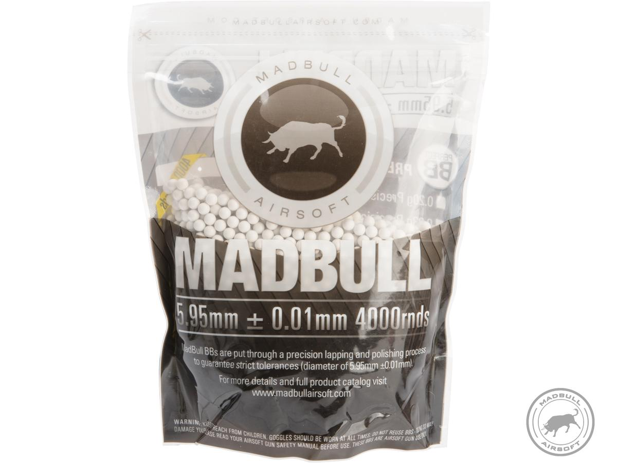 MadBull Premium Match Grade 6mm PLA Biodegradable Airsoft BB (Model: .28g White / 4000rd Bag)