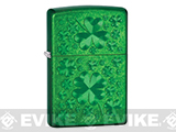Zippo Classic Lighter - Iced Clover  (Metallic Green)
