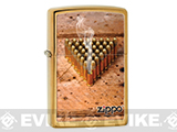 Zippo Classic Lighter Graphics Series (Model: Bullets / Brushed Brass)