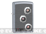 Zippo Classic Lighter - Bulletholes  (Brushed Chrome)