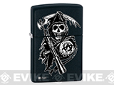 Zippo Classic Lighter Branded Series (Model: Sons of Anarchy / Matte Black)
