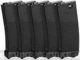 Modify XTC 190rnd Mid-Cap AEG Magazine for M4/M16 Airsoft AEG rifles (Color: Black / Box of 5)