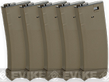 Modify XTC 190rnd Mid-Cap AEG Magazine for M4/M16 Airsoft AEG rifles (Color: Tan / Box of 5)