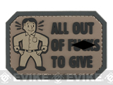 Mil-Spec Monkey All Out of F's PVC Morale Patch (Color: Dark ACU)