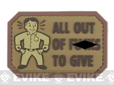 Mil-Spec Monkey All Out of F's PVC Morale Patch - Desert