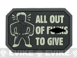 Mil-Spec Monkey All Out of F's PVC Morale Patch - Glow in the Dark