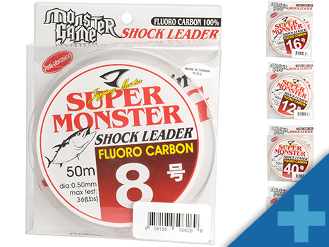Jigging Master Super Monster 100% Fluorocarbon leader 50M (Test: 36 Lbs)