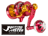 Jigging Master Monster Game High Speed Fishing Reel - Red / Gold (Size: PE2)